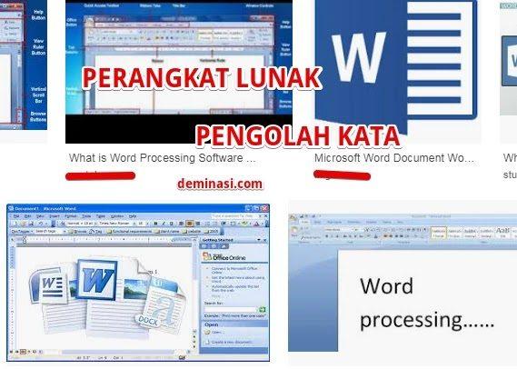 Aplikasi perangkat lunak pengolah kata